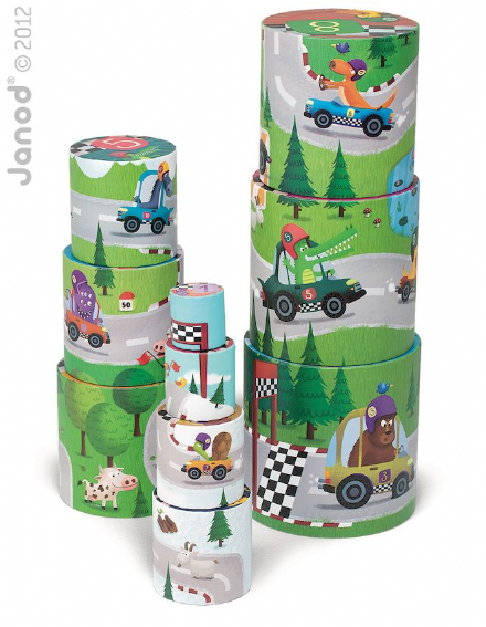 Round Stacking Puzzle - Racing theme by Janod